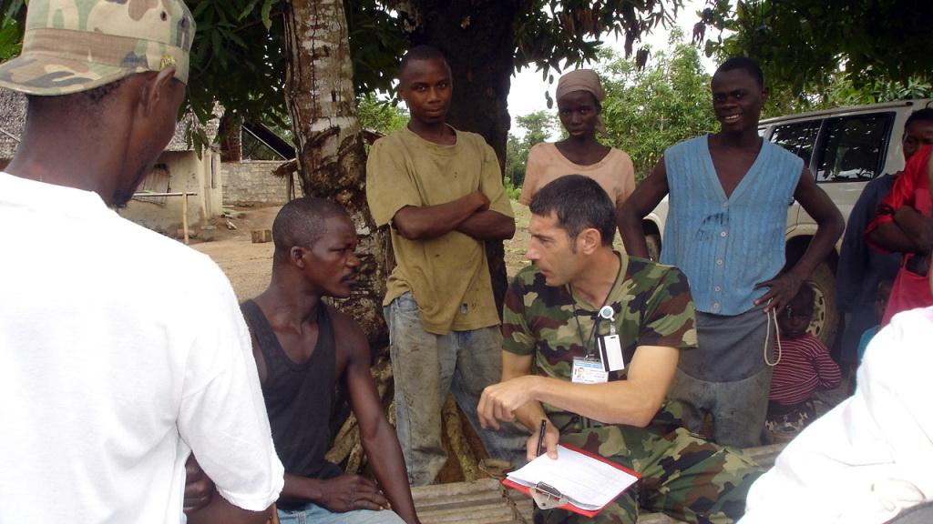 Oficir Vojske Srbije u misiji UN u Liberiji