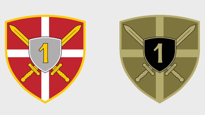 Амблем Прве бригаде Копнене војске