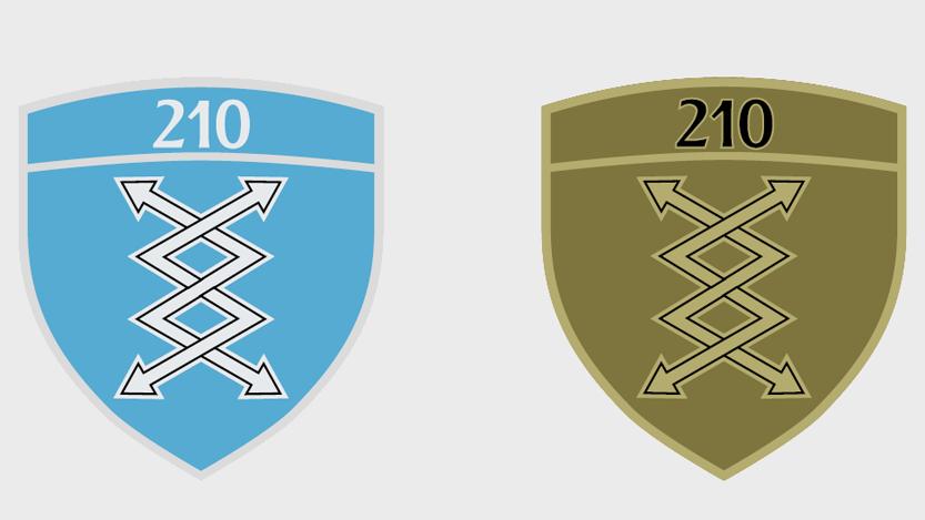 Амблем 210. батаљона везе РВ и ПВО