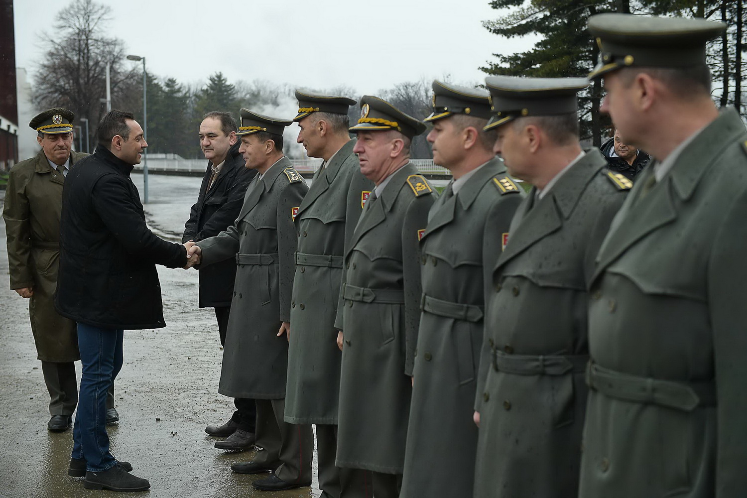 Minister Of Defence Aleksandar Vulin And Chief General Staff The Serbian Armed Forces Ljubia Dikovi Visited Today Military Academy Where