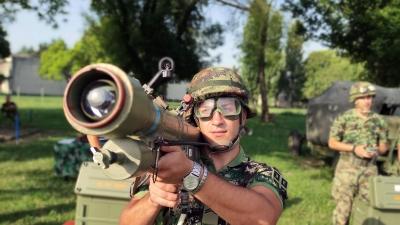 Training Shooting at...