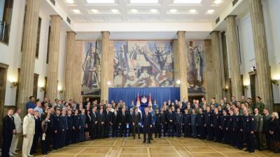 Prijem predsednika Republike povodom Dana Vojske Srbije i Dana pobede