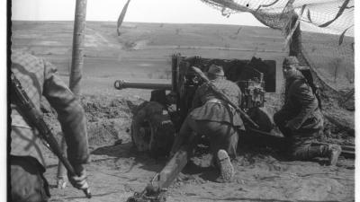 Gađanje u artiljerijskoj jedinici, 1952.