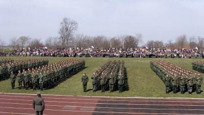 Zakletva vojnika generacije MART 2010 u 1.Centru za obuku u Somboru