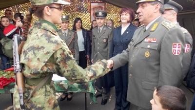 Полагање војничке заклетве у Лесковцу
