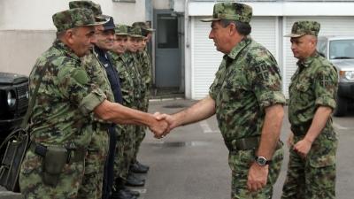 Генерал Диковић обишао заједничке снаге војске и полиције
