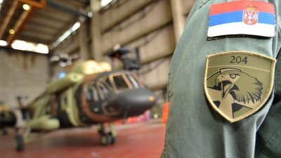The handover of helicopter Mi-17 at the airport