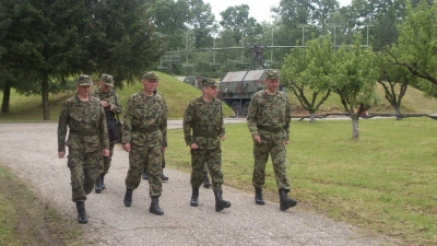 General Draganić obišao dežurnu raketnu bateriju u sistemu protivvazduhoplovne odbrane