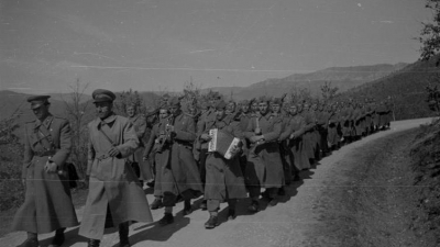 Pešadijska jedinica na maršu, 1951.