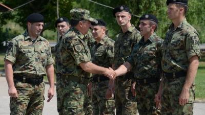 General Diković with MP Battalion