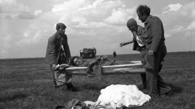 Military paratroopers on Тraining, 1951
