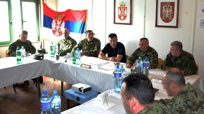 Ministar odbrane i načelnik Generalštaba na jugu Srbije