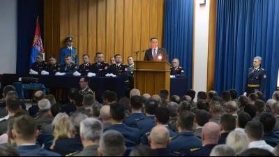 Министар Вулин на свечаности у Генералштабу поводом Дана ВС