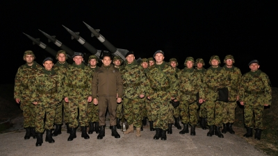 Visiting Members of 250th Missile Brigade on New Year's Eve