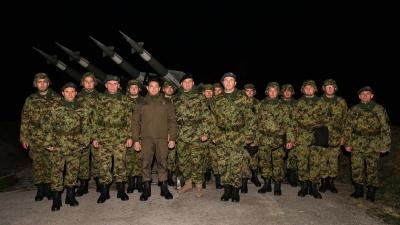 Обилазак припадника 250. ракетне бригаде у новогодишњој ноћи