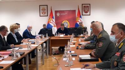 Састанак председника Вучића са колегијумима министра одбране и начелника Генералштаба