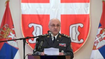 Обраћање пуковника Ристића на пријему поводом Дана војних ветерана