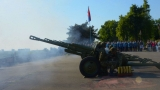 Gun Salute to Mark the Day of Victory