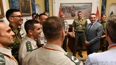 Reception for Athletes of the Serbian Armed Forces