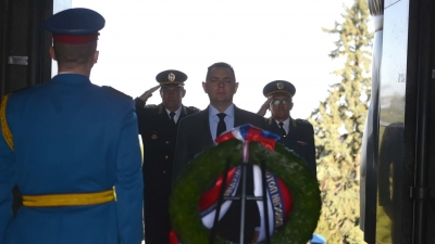 Minister of Defence Lays Wreath at Mt. Avala on Serbian Armed Forces Day