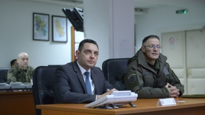 Minister Vulin and General Mojsilović visited the Defence System Operational Centre