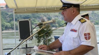 Обраћање команданта Речне флотиле капетана бојног брода Андрије Андрића