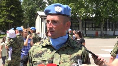 Komandir pešadijske čete major Bojan Stojanović