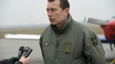 Потпуковник Бошко Шербеџија, командант 252. школско-тренажне авијацијске ескадриле