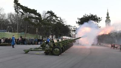 Почасна артиљеријска паљба поводом Дана Државности Републике Србије