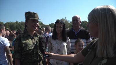 Изјаве кадета В. Радоњић и војника Н. Топличанина, свечаност у Сомбору