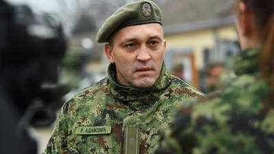 Командант 17. механизованог батаљона мајор Раде Адамовић
