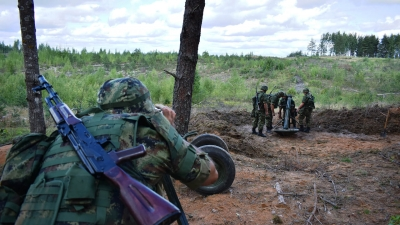 Припадници Војске Србије на вежби Западног војног округа Руске Федерације
