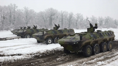Обука на новом борбеном возилу Војске Србије лазар 3