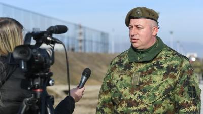 Потпуковник Саша Вучковић, командант 41. пешадијског батаљона