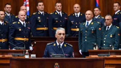 Обраћање потпуковника Саше Петровића, најбољег у 61. класи на свечаности поводом завршетка школовања 61. класе Генералштабног усавршавања Школе националне одбране и 7. класе Високих студија безбедности и одбране