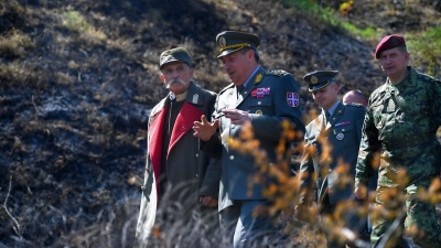 General Diković attends shooting of film on King Peter
