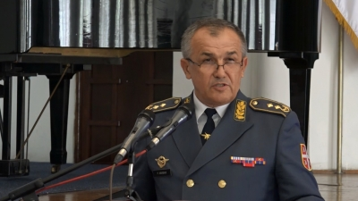 Obraćanje general-majora Ranka Živaka