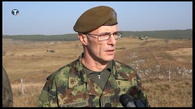 Изјава генерала Мојсиловића о припреми за вежбу Век победника