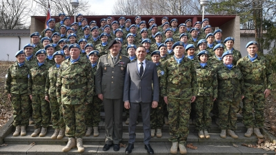 Farewell Ceremony Held for the Contingent of the Serbian Armed Forces Due for the UN Mission in the Central African Republic