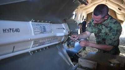 Припрема ракета ракетног система ПВО НЕВА за гађање