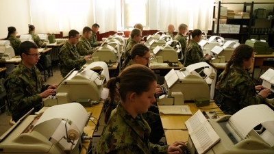 Soldiers' Training in IT and Signals Training Centre