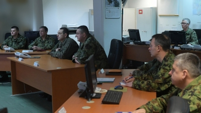 Visiting the Defence Operations Centre
