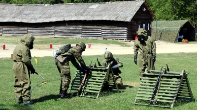 Training of the Students of the 14th Class of Basic NCO Course