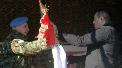 Испраћај контингента ВС у мисију УН у Либану: мајор Нинослав Ђуђић