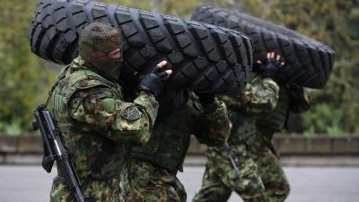 Obilazak 5. bataljona vojne policije