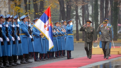 Генерал Диковић са начелником генералштаба Белорусије