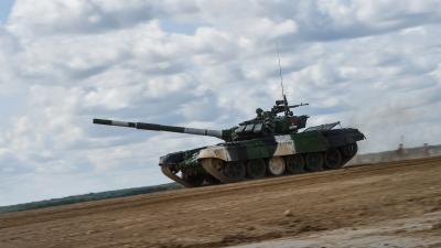 Serbian Armed Forces Tankmen in Tank Biathlon Semi-finals