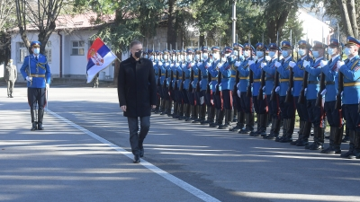 Visiting Serbian Armed Forces' Guard