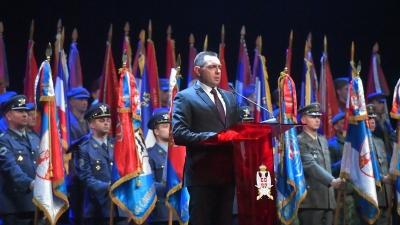 Obraćanje ministra odbrane Aleksandra Vulina