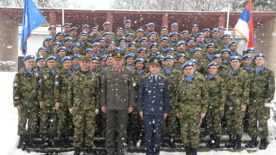 Seeing SAF contingent off to multinational operation MINUSCA